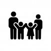 家族・親子の白黒シルエットイラスト02
