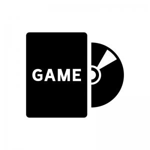 ゲームソフトの白黒シルエットイラスト