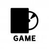 ゲームソフトの白黒シルエットイラスト02