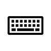 パソコンキーボードの白黒シルエットイラスト03