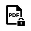 保護されたPDFファイルの白黒シルエットイラスト