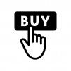 買い物・購入の白黒シルエットイラスト