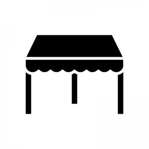 タープテント・イベントテントの白黒シルエットイラスト02