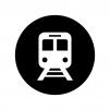 地下鉄の白黒シルエットイラスト