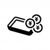 キャッシュトレイの白黒シルエットイラスト02