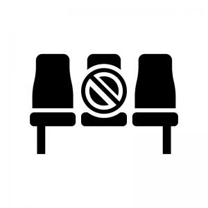 客席の規制の白黒シルエットイラスト02