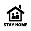 STAY HOME(ステイホーム)のシルエット